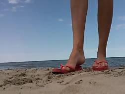 beautiful girlie showing feet