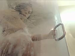 steamy shower soapy nude