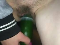 bitch drills vagina cucumber