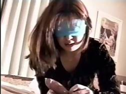blindfolded oriental gf unshaved
