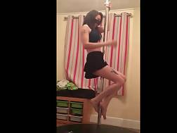 submissive wife works pole