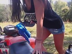 beautiful girl gets finger