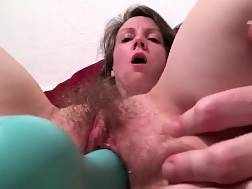 long dildo stretches hairy