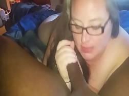 getting black pecker sucked
