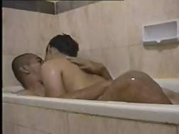 asian teens bathtub foreplay
