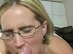 Nasty mom in glasses