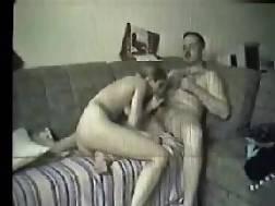 couple penetrate sofa