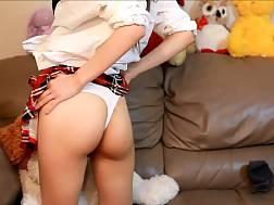 solo schoolgirl jerk sofa