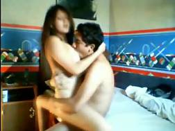 young latin couple enjoying