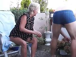 mature couple sex balcony