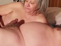 grandmother blowing much younger