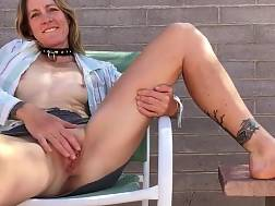 horny mommy wanks outdoors