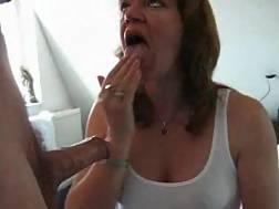 mature wife gulps huge