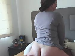 hubby watches wifey takes