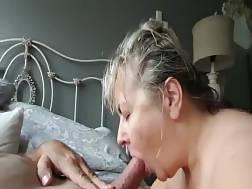 busty mature wifey sucks
