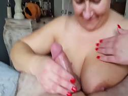 busty mature mistress takes