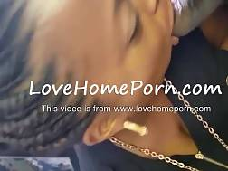 cute ebony woman licking
