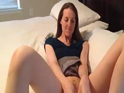slender wifey wanks cums