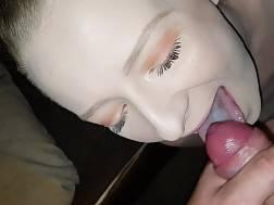 slut enjoys sperm throat