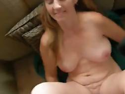 porn wife pigtails sofa