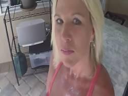 lighthaired whore jerks cock