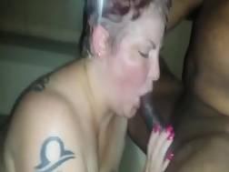 tattooed milf blow job