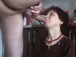 russian grandmother rough throat