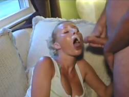 blonde mom takes facial
