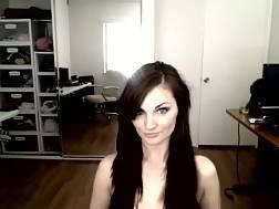 gorgeous brunette sweetie strips