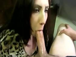 nice blackhaired chick facial