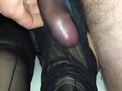 stocking footjob ends cum