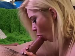 beautiful lighthaired sucking hard