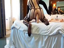 anal bitch wearing black