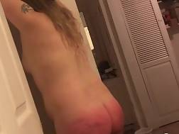 punished gf spanking hard