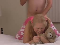 lighthaired teenager fucked asshole
