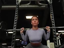 wearing panties bra gym