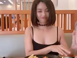 beautiful asian nymph flashing