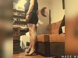 one mini dress stiletto