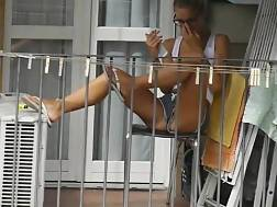 teen neighbor balcony x
