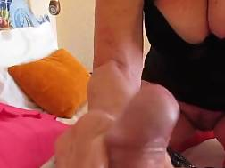 wife jerking dressed pink