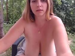 blondie outdoors wanking exposing