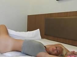 petite blonde exposing body
