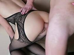 russian exgf ripped fishnet