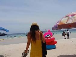 dress panties public beach