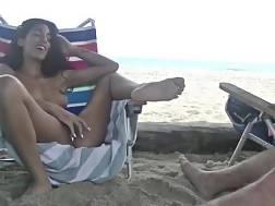 public masturbating beach