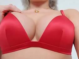 red bra perfect titties