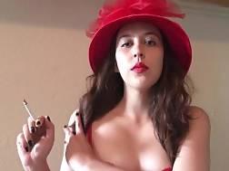 hot goddess d smoking