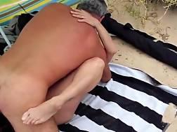 lisa fucks voyeur beach